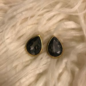 BaubleBar Black Teardrop Earrings